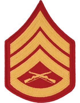 Gold/Red Male Chevron (105) Staff Sergeant USMC (Pair)