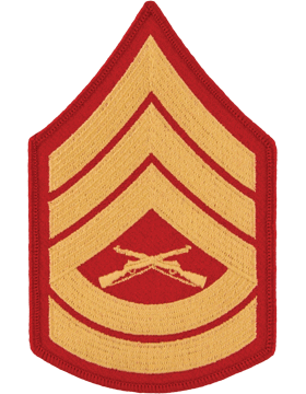 Gold/Red Female Chevron (106) Gunnery Sergeant USMC (Pair)