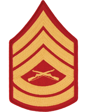 Gold/Red Male Chevron (106) Gunnery Sergeant USMC (Pair)