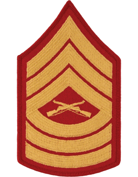 Gold/Red Female Chevron (107) Master Sergeant USMC (Pair)