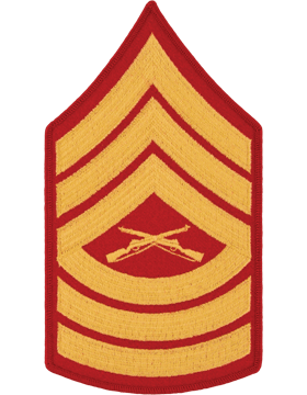 Gold/Red Male Chevron (107) Master Sergeant USMC (Pair)