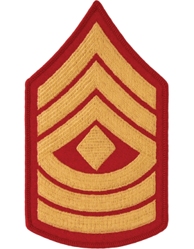 Gold/Red Female Chevron (108) First Sergeant USMC (Pair)