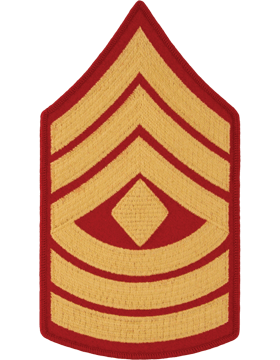 Gold/Red Male Chevron (108) First Sergeant USMC (Pair)