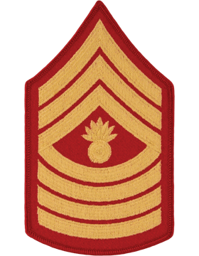 Gold/Red Female Chevron (109) Master Gunnery Sergeant USMC (Pair)