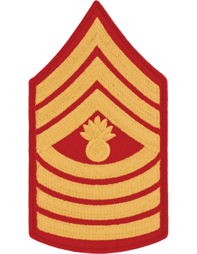 Gold/Red Male Chevron (109) Master Gunnery Sergeant USMC (Pair)