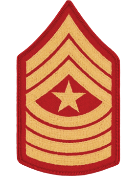 Gold/Red Female Chevron (110) Sergeant Major USMC (Pair)