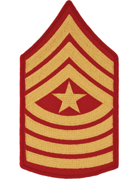 Gold/Red Male Chevron (110) Sergeant Major USMC (Pair)