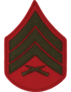 Green/Red Female Chevron (204) Sergeant USMC (Pair)
