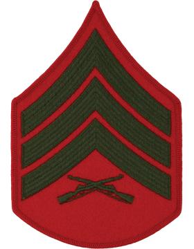 Green/Red Male Chevron (204) Sergeant USMC (Pair)