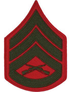 Green/Red Male Chevron (205) Staff Sergeant USMC (Pair)