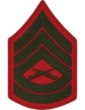 Green/Red Female Chevron (206) Gunnery Sergeant USMC (Pair)