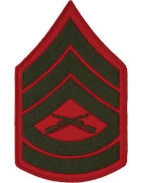 Green/Red Male Chevron (206) Gunnery Sergeant USMC (Pair)