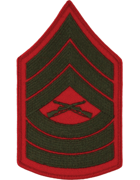 Green/Red Female Chevron (207) Master Sergeant USMC (Pair)