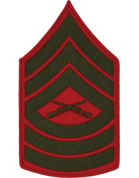 Green/Red Male Chevron (207) Master Sergeant USMC (Pair)