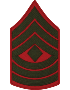 Green/Red Male Chevron (208) First Sergeant USMC (Pair)