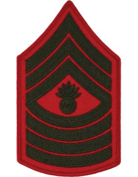 Green/Red Female Chevron (209) Master Gunnery Sergeant USMC (Pair)