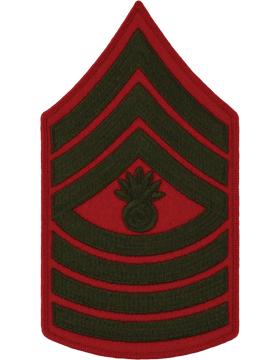 Green/Red Male Chevron (209) Master Gunnery Sergeant USMC (Pair)
