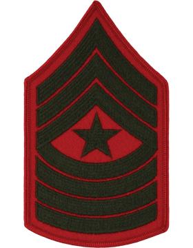 Green/Red Female Chevron (210) Sergeant Major USMC (Pair)