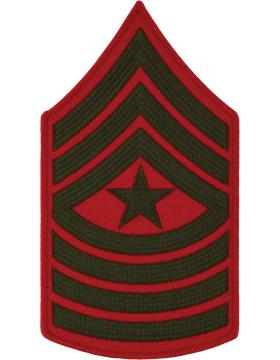 Green/Red Male Chevron (210) Sergeant Major USMC (Pair)