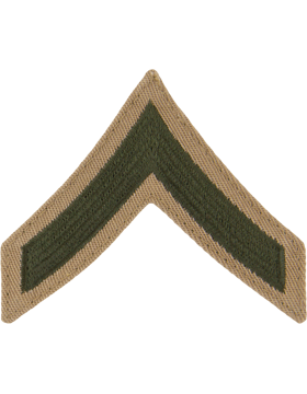 Green/Khaki Female Chevron (301) Private First Class USMC (Pair)