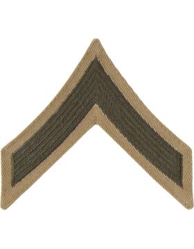 Green/Khaki Male Chevron (301) Private First Class USMC (Pair)