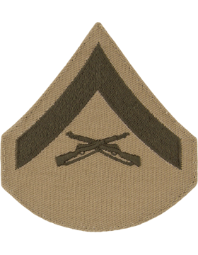 Green/Khaki Female Chevron (302) Lance Corporal USMC (Pair)