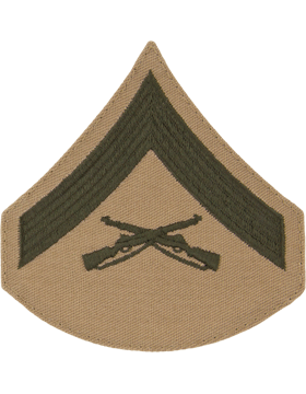 Green/Khaki Male Chevron (302) Lance Corporal USMC (Pair)