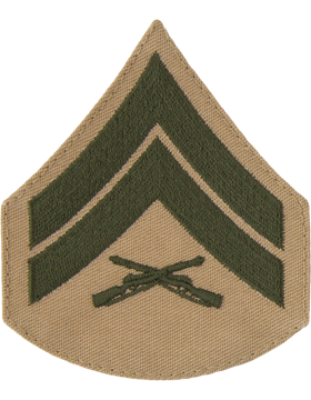 Green/Khaki Female Chevron (303) Corporal USMC (Pair)