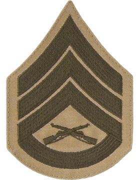 Green/Khaki Female Chevron (305) Staff Sergeant USMC (Pair)