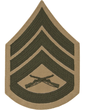 Green/Khaki Male Chevron (305) Staff Sergeant USMC (Pair)