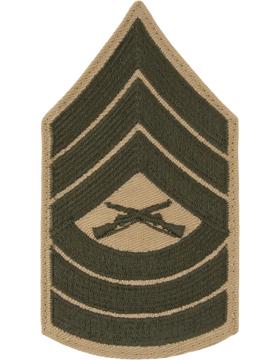 Green/Khaki Female Chevron (307) Master Sergeant USMC (Pair)