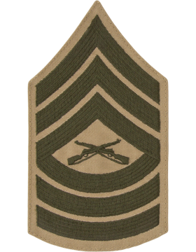 Green/Khaki Male Chevron (307) Master Sergeant USMC (Pair)