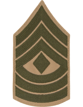 Green/Khaki Female Chevron (308) First Sergeant USMC (Pair)
