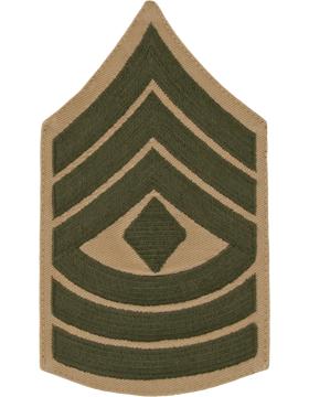 Green/Khaki Male Chevron (308) First Sergeant USMC (Pair)