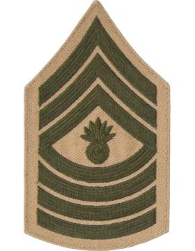 Green/Khaki Female Chevron (309) Master Gunnery Sergeant USMC (Pair)