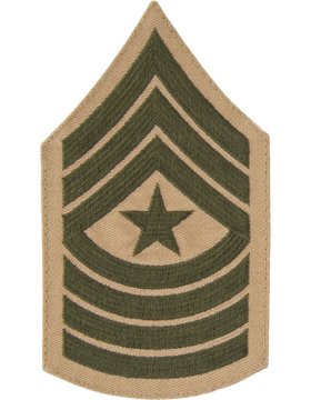 Green/Khaki Female Chevron (310) Sergeant Major USMC (Pair)