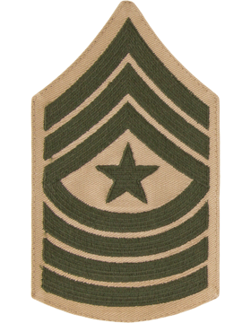Green/Khaki Male Chevron (310) Sergeant Major USMC (Pair)