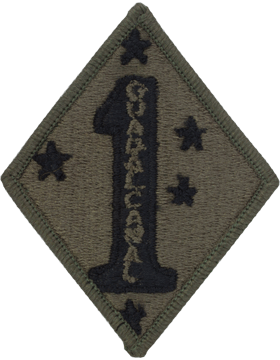 1st Marine Division Subdued Patch