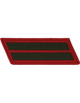 Set of 2 Stripes Green on Red Female