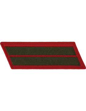 Set of 2 Stripes Green on Red Male