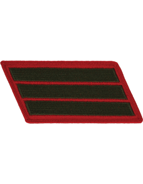 Set of 3 Stripes Green on Red Female