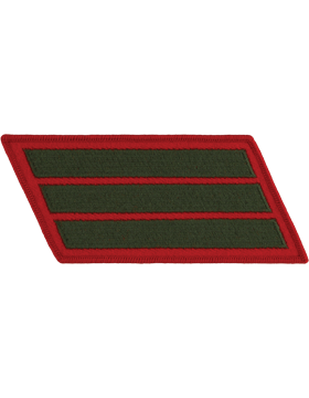 Set of 3 Stripes Green on Red Male