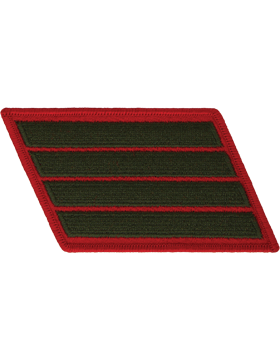 Set of 4 Stripes Green on Red Female