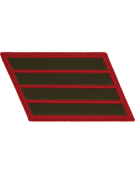 Set of 4 Stripes Green on Red Male