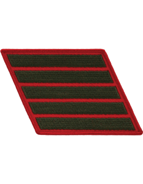 Set of 5 Stripes Green on Red Female