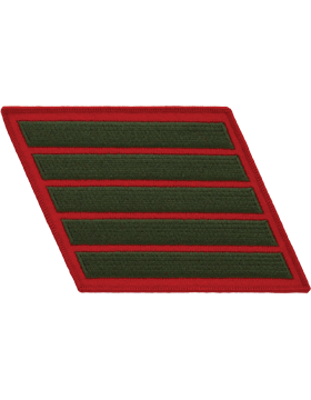 Set of 5 Stripes Green on Red Male