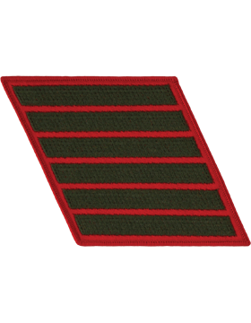 Set of 6 Stripes Green on Red Female
