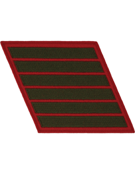 Set of 6 Stripes Green on Red Male