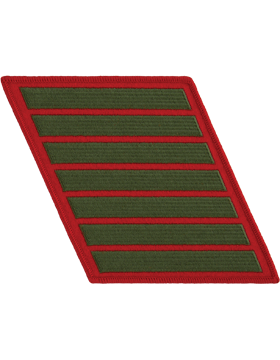 Set of 7 Stripes Green on Red Female