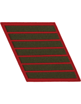 Set of 7 Stripes Green on Red Male